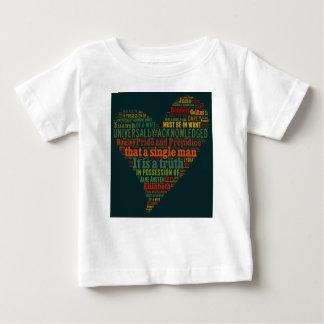 Camiseta Para Bebê Nuvem da palavra do orgulho e do preconceito