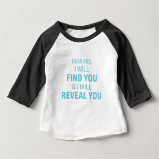 Camiseta Para Bebê O Ab revela