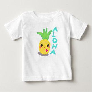 Camiseta Para Bebê O abacaxi bonito diz Aloha