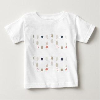 Camiseta Para Bebê O abstrato dá forma ao teste padrão nas cores