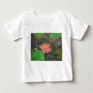 Camiseta Para Bebê O acrílico em canvas, pica waterlily e esverdeia