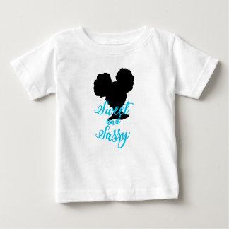 Camiseta Para Bebê O Afro sopra cabelo | natural doce e Sassy de |