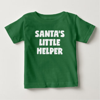 Camiseta Para Bebê O ajudante pequeno do papai noel