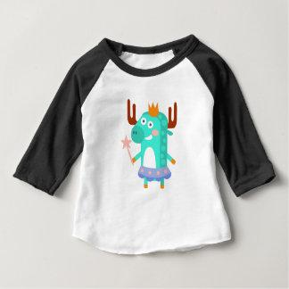 Camiseta Para Bebê O alce com partido atribui Funky estilizado