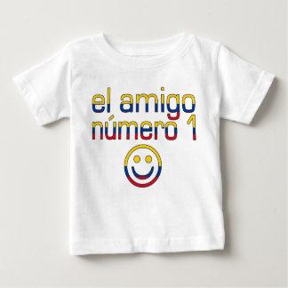 Camiseta Para Bebê O amigo Número 1 do EL na bandeira colombiana
