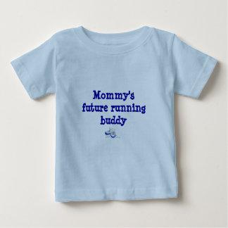 Camiseta Para Bebê O amigo Running futuro da mamã