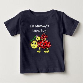 Camiseta Para Bebê O amor do joaninha personaliza ou adiciona o texto