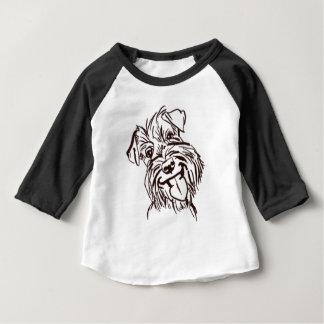 Camiseta Para Bebê O amor do Schnauzer de minha vida