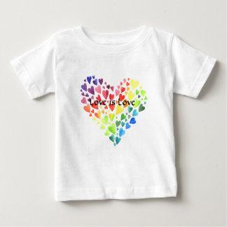Camiseta Para Bebê O amor é o T do pequeno pequeno do amor