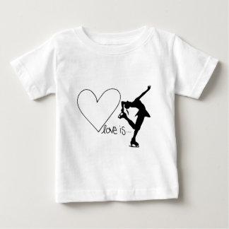 Camiseta Para Bebê O amor é patinagem artística, patinador da menina
