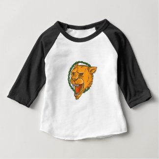 Camiseta Para Bebê O anel da rosnadura da leoa sae do tatuagem
