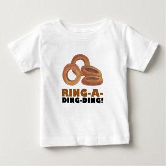 Camiseta Para Bebê O anel de cebola de Anel-Um-Ding-Ding soa a comida