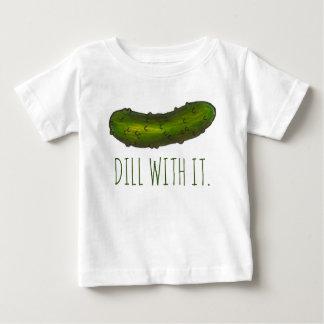Camiseta Para Bebê O aneto (negócio) com ele salmoura do verde