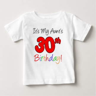 Camiseta Para Bebê O aniversário de 30 anos da tia