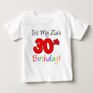 Camiseta Para Bebê O aniversário de 30 anos de Zia