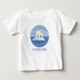 Camiseta Para Bebê O aquecimento global é Uncool