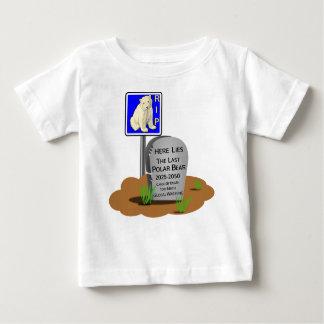 Camiseta Para Bebê O aquecimento global, RASGA o urso polar 2050