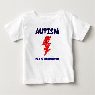 Camiseta Para Bebê O autismo é superpotência, mente mental da saúde