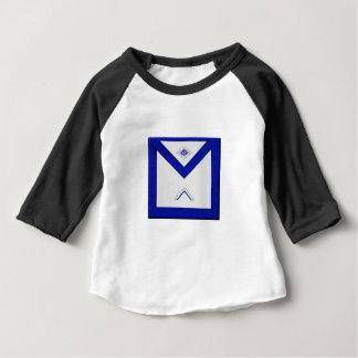 Camiseta Para Bebê O avental do mestre do Freemason