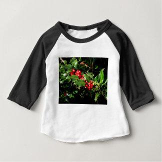 Camiseta Para Bebê O azevinho e a hera
