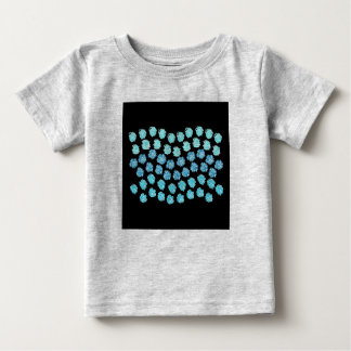 Camiseta Para Bebê O azul acena o t-shirt do bebê