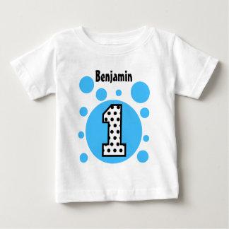 Camiseta Para Bebê O AZUL BORBULHA presente do bebê de um ano do