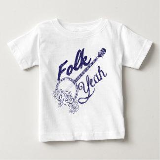 Camiseta Para Bebê O banjo engraçado da música dos povos de Wellcoda