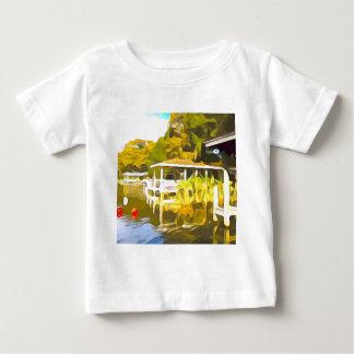 Camiseta Para Bebê O barco entra o lago Osceola