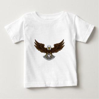 Camiseta Para Bebê O basebol de Eagle ostenta a mascote