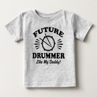 Camiseta Para Bebê O baterista futuro gosta de meu pai