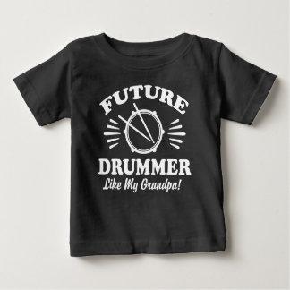 Camiseta Para Bebê O baterista futuro gosta de meu vovô