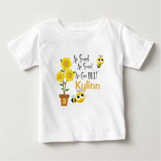 Camiseta Para Bebê O bebê Bumble o t-shirt da abelha