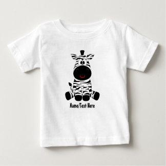 Camiseta Para Bebê O bebê da zebra é bonito