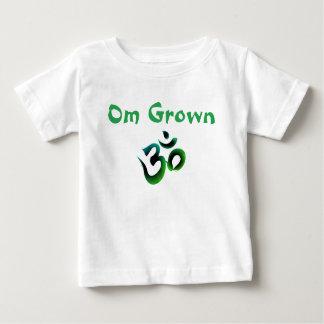 Camiseta Para Bebê O bebê verde crescido OM Tee