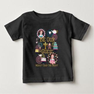Camiseta Para Bebê O Belle | seja nossa nossa Convidado-Beleza e o