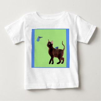 Camiseta Para Bebê O Bluebird do t-shirt do miúdo da felicidade