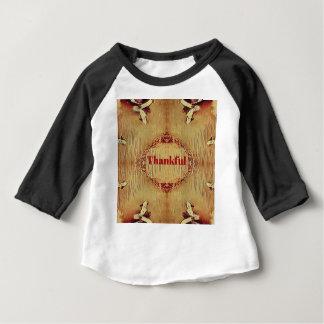 """Camiseta Para Bebê O bolsa """"grato"""" sazonal do design da queda"""