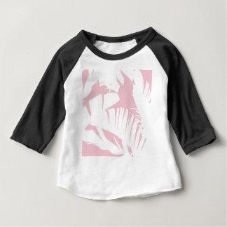 Camiseta Para Bebê O branco na banana tropical cor-de-rosa deixa o