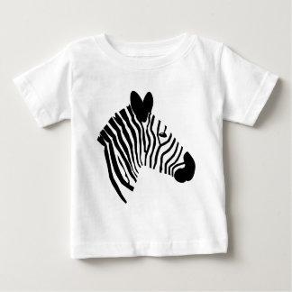 Camiseta Para Bebê O branco principal do preto da ilustração da zebra