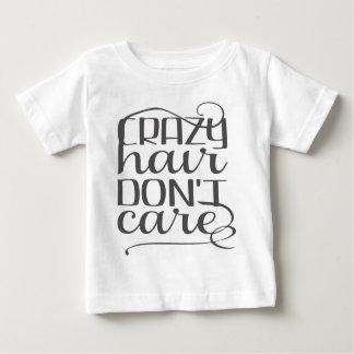 Camiseta Para Bebê O cabelo louco não se importa