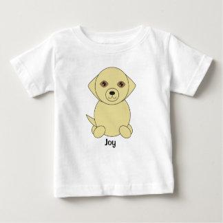 Camiseta Para Bebê O cão amarelo bonito do laboratório personaliza