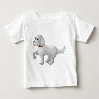 Camiseta Para Bebê O cão dá a pata