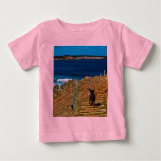 Camiseta Para Bebê O cão de filhote de cachorro com crista chinês