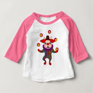 Camiseta Para Bebê O cão Frenchie do palhaço entertains o com seu