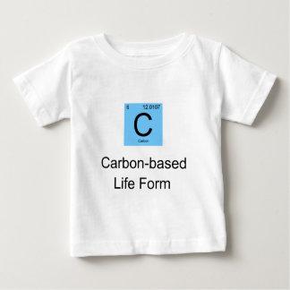 Camiseta Para Bebê O carbono baseou o formulário de vida