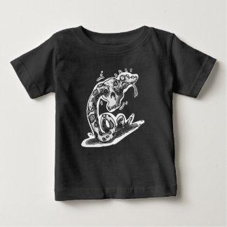Camiseta Para Bebê o cascavel desajeitado colou nos desenhos animados