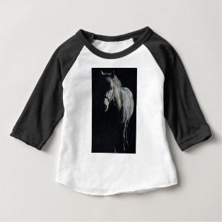 Camiseta Para Bebê O cavalo de prata nas sombras