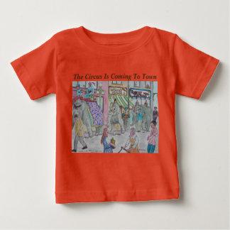 Camiseta Para Bebê O circo está vindo à cidade! Artista projetado