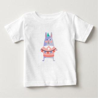 Camiseta Para Bebê O coelho com partido atribui Funky estilizado