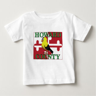 Camiseta Para Bebê O CONDADO DE HOWARD com goldfinch